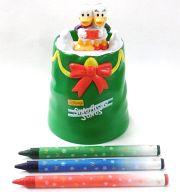 ドナルド&デイジーのペン立て 「ディズニーと歌おう クリスマス・ソング」 ハッピーセット
