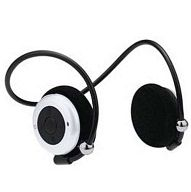 Bluetooth ネックバンド型ステレオヘッドセット (ホワイト) [GH-BHHSNW]