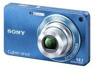 デジタルスチルカメラ CYBER SHOT 1410万画素 (ブルー) [DSC-W350(L)](状態:箱(内箱含む)・説明書・CD-ROM欠品)