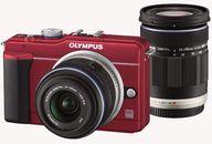 デジタルカメラ オリンパス・ペン Lite E-PL1s ダブルズームキット レッド (状態:本体状態難)