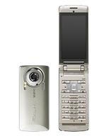 携帯電話 EXILIMケータイ CA003 (シャンパンゴールド) [CA003SNA](状態:本体・電池パックのみ/本体・液晶画面状態難)