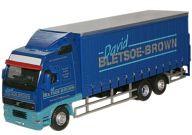 1/76 Volvo FH Curtainside Lorry David Bletsoe Brown [OXVOL01CL]