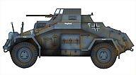 """1/48 ドイツ軍 四輪装甲偵察車""""北アフリカ 1941年"""" [HG1402]"""