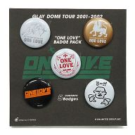 "GLAY 缶バッジパック(5個セット) 「GLAY DOME TOUR 2001-2002 ""ONE LOVE""」"