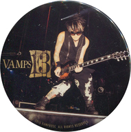 K.A.Z(ギター) 缶バッジ 「写真展 VAMPS 13」 渋谷パルコ会場限定 ガチャガチャ景品