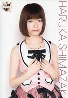 島崎遥香/上半身・衣装ピンク・黒/AKB48 CAFE&SHOP限定 A4サイズ生写真ポスター 第77弾