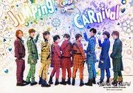 Hey!Say!JUMP/集合(9人)/横型・全身・チェック柄・振り返り・中島右手指差し・センター山田/「Hey!Say!JUMP COUNTDOWN LIVE 2015-2016 JUMPing CARnival Count Down」オリジナルフォト