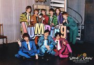 Hey!Say!JUMP/集合(9人)/横型・全身・チェック柄・3人座り・階段・前列センター中島/「Hey!Say!JUMP COUNTDOWN LIVE 2015-2016 JUMPing CARnival Count Down」オリジナルフォト