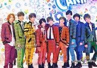 Hey!Say!JUMP/集合(9人)/横型・全身・チェック柄・目線右・八乙女右手親指立て・センター山田/「Hey!Say!JUMP COUNTDOWN LIVE 2015-2016 JUMPing CARnival Count Down」オリジナルフォト