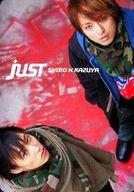 JUST(shiro×kazuya)/斎賀みつき・西岡和哉/全身・衣装黒カーキ/CD「Farewell」特典トレカ
