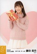 鎌田菜月/膝上・立ち/SKE48 2017年2月度 net shop限定個別生写真「2017.02」「バレンタイン」