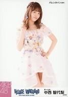 中西智代梨/膝上・バレンタインver./AKB48×ヴィレッジヴァンガード限定ランダム生写真(VILLAGE/VANGUARD EXCITNG BOOK STORE)