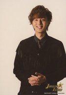 Kis-My-Ft2/藤ヶ谷太輔/上半身・衣装黒・ネクタイ・水玉模様・両手組み・笑顔/「JOHNNYS' ALLSTARS ISLAND」オリジナルフォト