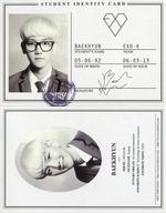 EXO-K/BAEKHYUN/CD「EXO 1集 - XOXO 『Kiss Version』(韓国版)『Hug Version』(中国版)」特典トレカ