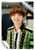 Hey!Say!JUMP/薮宏太/上半身・衣装黄緑・チェック柄・白・黒・歯見せ・笑顔/Hey! Say! JUMP COUNTDOWN LIVE 2015-2016 JUMPing CARnival Count Down グッズ/公式生写真