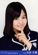穴井千尋/バストアップ・左手口元/劇場トレーディング生写真セット2013.March