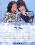 No.23 : 優香・新山千春/メモカード/PRINAME PETIT HiP