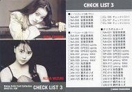 RACC-CL-108 : 観月ありさ・知念里奈/チェックリスト3/Rising Artist Card Collection