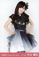 片山陽加/膝上・両手腰/劇場トレーディング生写真セット2012.March