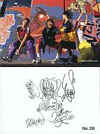 No.26 : SPEED/集合(4人)/裏面印刷サイン/ライジングプロダクション公式ブロマイド