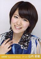 山内鈴蘭/バストアップ・手を胸/劇場トレーディング生写真セット2012.February