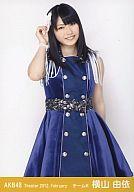 横山由依/膝上・手を髪/劇場トレーディング生写真セット2012.February