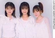 モーニング娘。/道重・亀井・田中/横型・上半身・衣装白・センター亀井/公式生写真