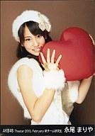 AKB48/永尾まりや/上半身/劇場トレーディング生写真セット2010.February