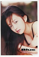 高橋由美子(バストアップ・水着・黒色)/写真集「Blue」特典