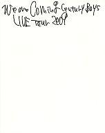 パンフ)We are Coming Century Boys LIVE TOUR 2009