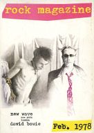 ROCK MAGAZINE 12号 1978年2月号