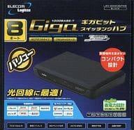 Gigabit Ethernet-adaptive switching hub 8 port (black) [LAN-GSW08PHB]