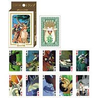 Princess Mononoke scene full of playing cards
