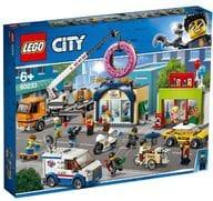 LEGO タウン 巨大クレーン車が活躍!ドーナツショップの開店 「レゴ シティ」 60233
