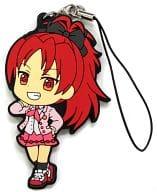 佐倉杏子 ラバーストラップ きゅんキャラいらすとれーしょんず 「一番くじ 魔法少女まどか☆マギカ~Magiccraft~」 K賞
