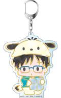 """Yoshinori Katsuyoshi (Stamp Rally ver.) Deca Key Holder """"Yuri !!! on ICE × Sanrio Characters"""""""