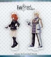"Female hero & Goldorf battle character style acrylic stand ""Fate / Grand Order"""
