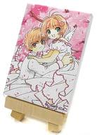 桜&小狼 ミニキャンバスボード 「カードキャプターさくら」 なかよし創刊65周年記念原画展グッズ