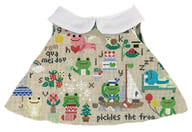 ピクルス ワンピース(ソーイング) ビーンドール用コスチューム 「pickles the frog-かえるのピクルス-」