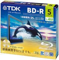 BD-R 25GB 4x 5 pack for TDK recording [BRV25B5A]