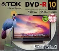 DVD-R 4.7GB 10 sheets pack [DR120DPWC10UE] for TDK recording