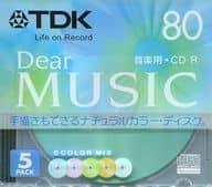 TDK Recording CD-R Dear MUSIC 700MB 5-Pack Pack [CD-RDE80CMX5N]