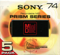 Mini-disc PRISM SERIES for Sony recording 74 minutes 5 pieces pack [5MDW-75H]