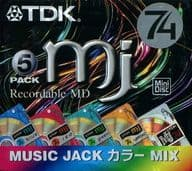 Mini Disc MJ color MIX 74 minutes 5 pieces pack for TDK recording [MD-MJ74CMX5]