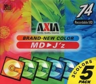 AXIA for recording MD 3COLORS 74 minutes 5 pieces pack [MDJZAMIX74X5P]