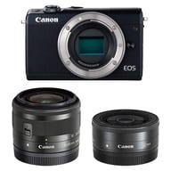キャノン ミラーレスカメラ EOS M100 ダブルレンズキット 2420万画素 (ブラック) [EOSM100BK-WLK]
