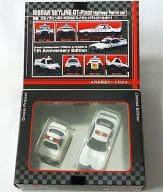 日産 スカイラインGT-R R32 ハイウェイパトロールカー(ホワイト×ブラック) 2台セット 「トミカリミッテド&チョロQ 日本の名車 No.9」 トミカ&チョロQ 1周年記念モデル トイズドリームプロジェクト限定