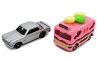 トミカ 45周年記念 日産スカイライン 2000GT-R KPGC10(シルバー)&バースデイスイーツバス 特別カラーバージョン(ピンク) 2015 株主優待限定企画セット