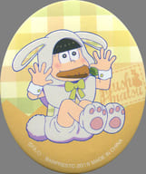十四松(A) イースターエッグ缶バッジ 「一番くじ おそ松さん~白黒うさぎのイースター~」 J賞
