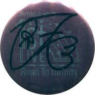 九条天 複製サイン入りライブロゴ缶バッジ 「アイドリッシュセブン 1st LIVE Road To Infinity 展覧会」 物販購入特典
